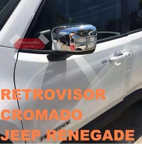 jeep renegade capa de maçaneta + retrovisor cromado cromada