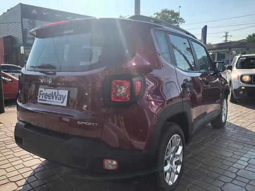jeep renegade sport mt 1.8l 2018 0km rojo