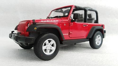 jeep rubicon  escala 1:24, 18cms de largo metálico de lujo.
