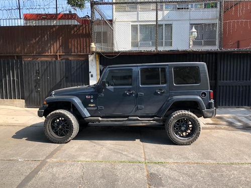 jeep sahara 2008 suspension modificada
