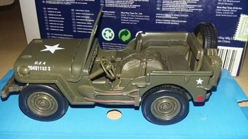 jeep willys 1/32 new ray pull back