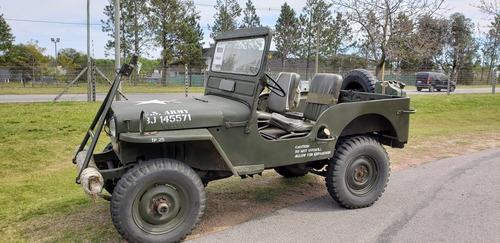 jeep willys 1952 militar original y funcionando