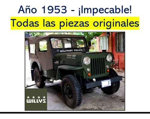 jeep willys 1953 en perfectas condiciones