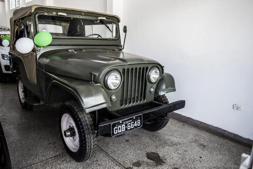 jeep willys 1962 placa preta