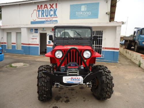 jeep willys, ap 2.0 turbo, 4x4, reduzido, freio disco