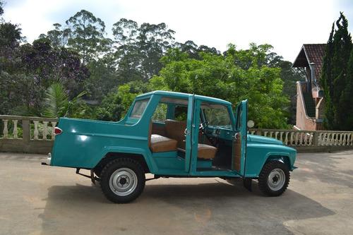 jeep willys ford f75 cabine dupla 3 portas modelo rarissimo.