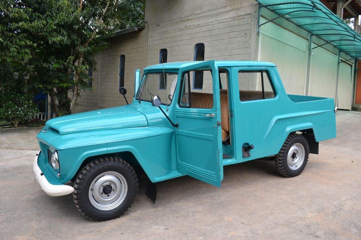 jeep willys ford f75 cabine dupla 3 portas modelo rarissimo r em mercado libre. Black Bedroom Furniture Sets. Home Design Ideas