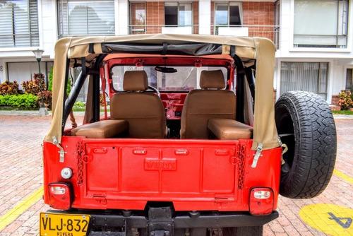 jeep willys rojo precio negociable