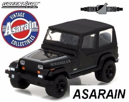 Jeep Wrangler 1989 Black Bandit 17 Greenlight 1/64