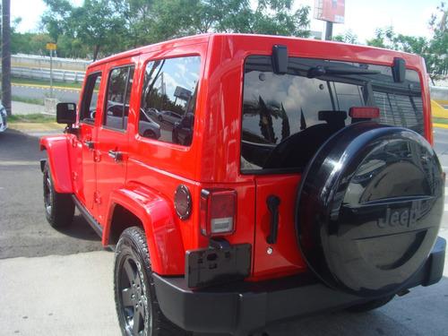 jeep wrangler 3.6 unlimited sahara 4x4 at 2015 rojo