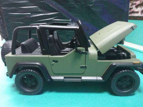 jeep wrangler color verdea escala 1/24 marca jada