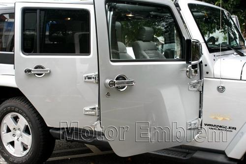 jeep wrangler cromo de bisagras  y cofre 28 piezas sp0