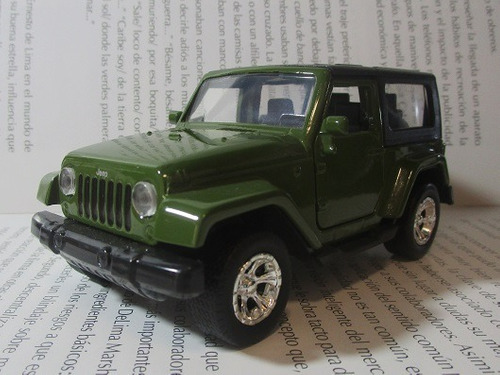 jeep wrangler escala 12cm coleccion jada metalico