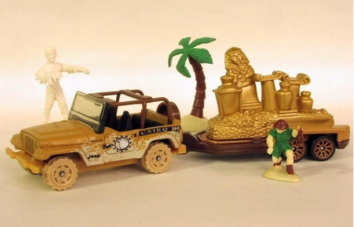jeep wrangler matchbox remolque hitch n haul tut's treasure
