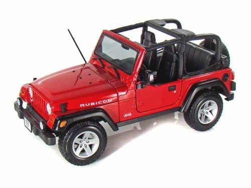 jeep wrangler rubicon 1/18 red !