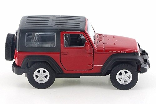 jeep wrangler rubicon, rojo - welly 42371h-d - 4.5 diecast m