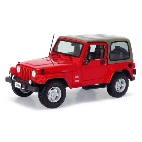 jeep wrangler sahara vermelho burago vermelho escala 1/18 - r$ 205