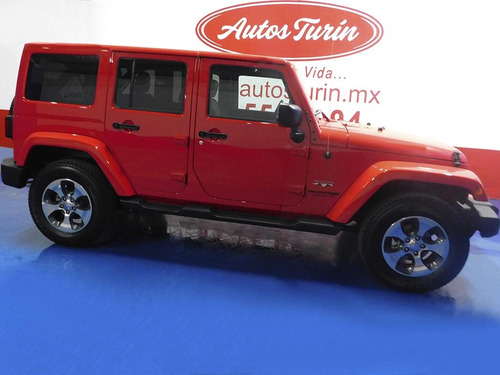 jeep wrangler unlimited sahara 4x4 2018 rojo $699,500