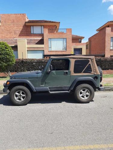 jeep wrangler verde militar descapotable