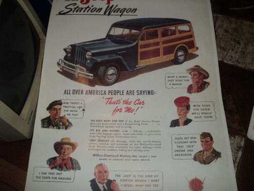 jeep/rural/usa poster 40x70cm (vai dobrado)