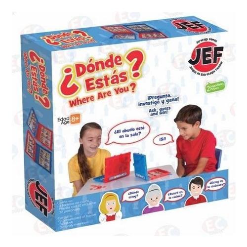 jef-7199 ¿donde estas? juego de mesa deductivo 34 piezas jef