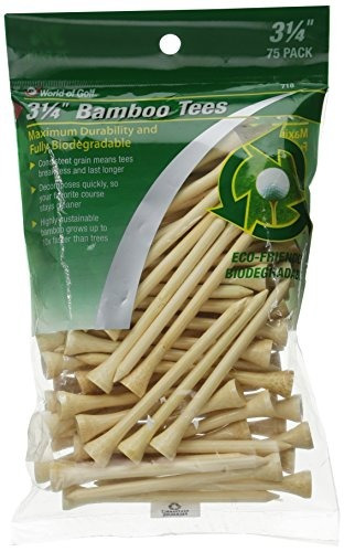 jef world of golf 718 3-1 / 4 pulgadas bamboo golf tees (...