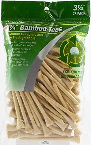 jef world of golf 718 3-1 /4 pulgadas bamboo golf tees (75