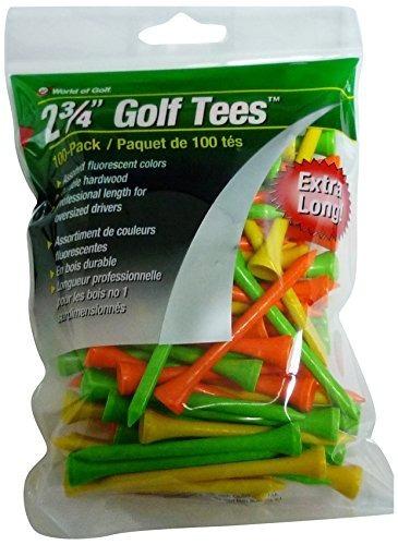 jef world of golf tee (paquete de 100), 2 3/4 pulgadas,