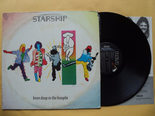 jefferson starship- lp knee deep in the hoopla- 1989 encarte