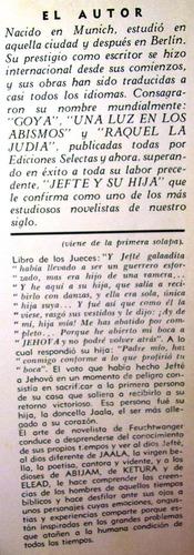 jefte y su hija lion feuchtwanger ediciones selectas 1966
