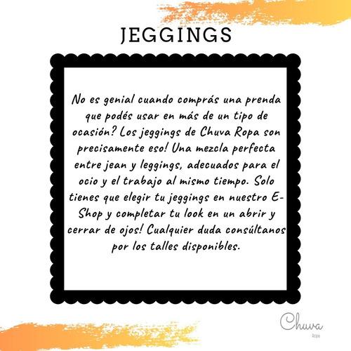 jeggings exclusive calza de jean elastizado negro* - chuva ropa