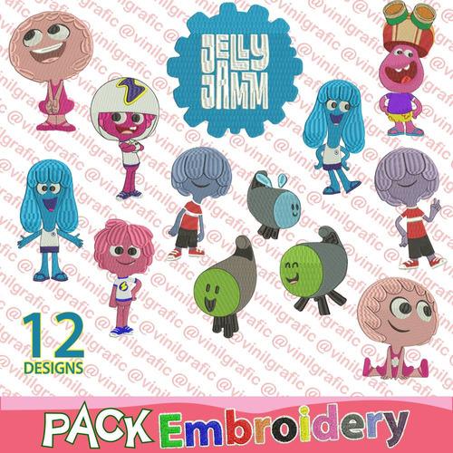 jelly jamm 12 diseños bordados patron bastidor brother