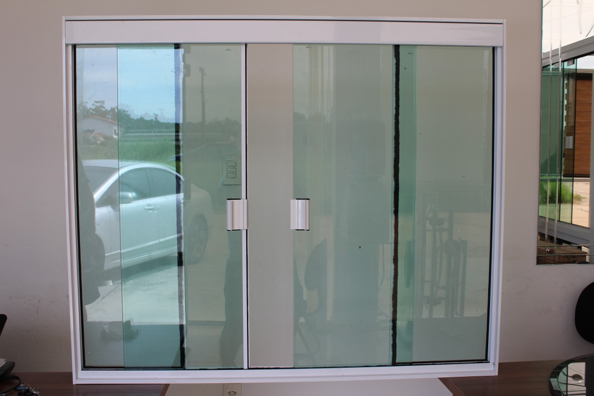 #4D747E Jenela 4f 1500x1200 Tipo Blindex Alum Branco Temp Verde R$ 519 00 em  216 Janelas De Vidro P Quarto