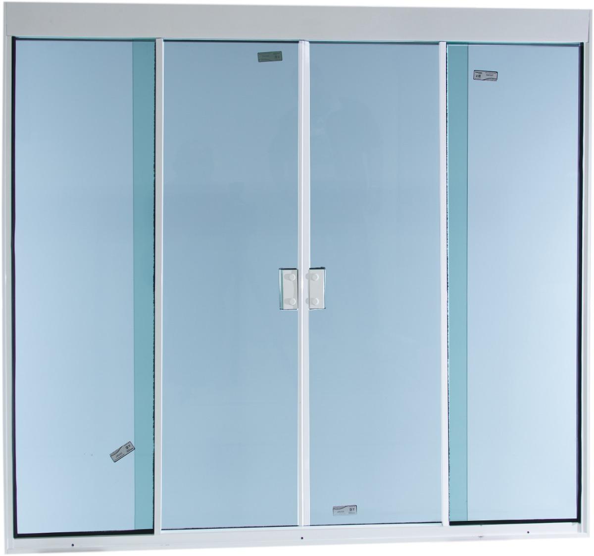 #436C88 Jenela 4f 1500x1200 Tipo Blindex Alum Branco Temp Verde R$ 519 00 em  1744 Janela De Aluminio Ou Blindex