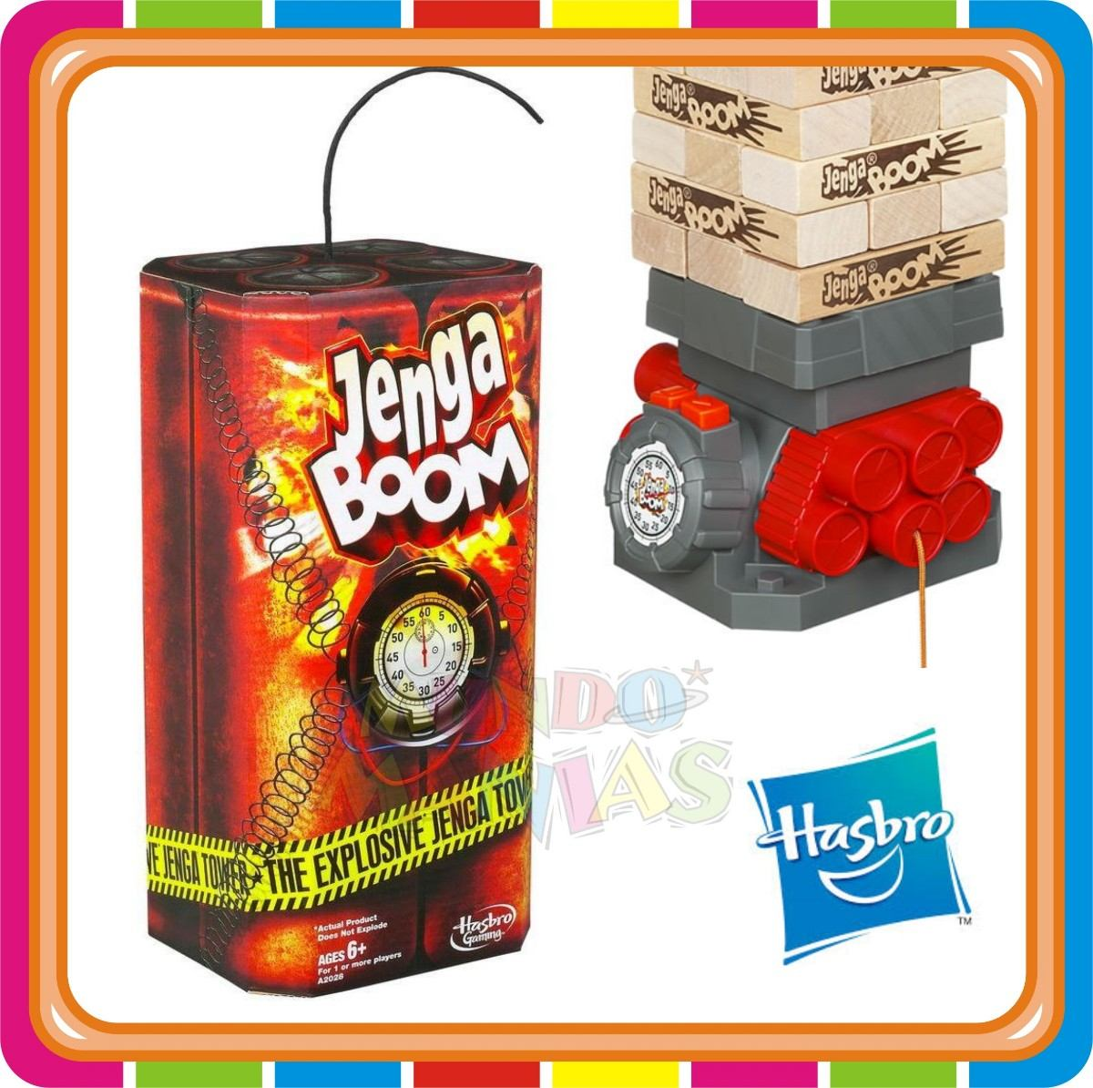 Jenga Boom Juego De Mesa Contra Reloj Hasbro Mundo Manias 799