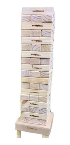 jenga gigante 82 cm + banco yenguero. 54 piezas biseladas !!