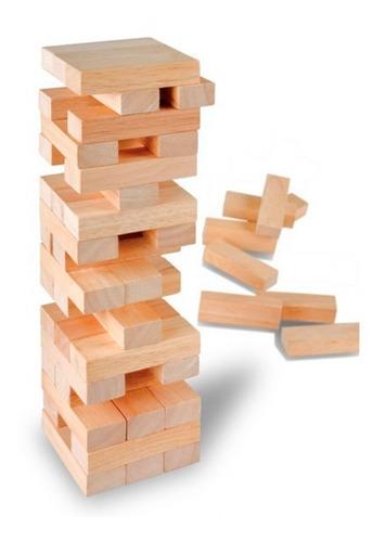 jenga gigante familiar 45 piezas yenga, juego, diversion !!
