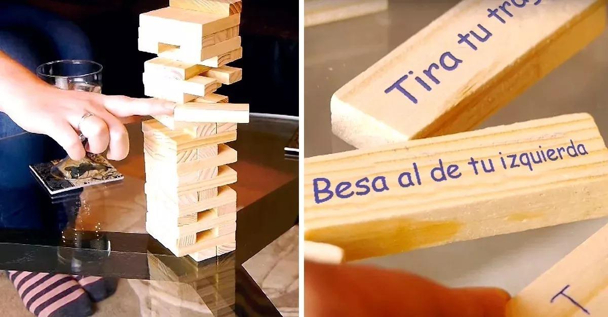 Jenga Juego De Mesa En Espanol Mas 4 Vasos 6 990 En Mercado Libre