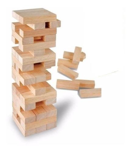 jenga yenga juego de ingenio y habilidad de madera 54 piezas