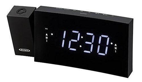 jensen jcr-238bb reloj despertador radio fm carga y proyecci