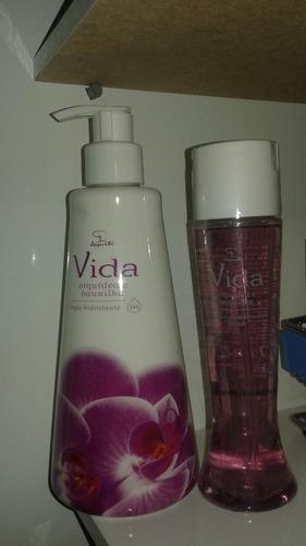 jequiti kit vida orquídea e baunilha: loção+ spray corporal