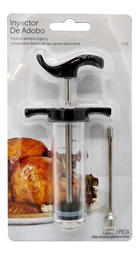 jeringa inyector de adobo condimentos carnes pollo plástica