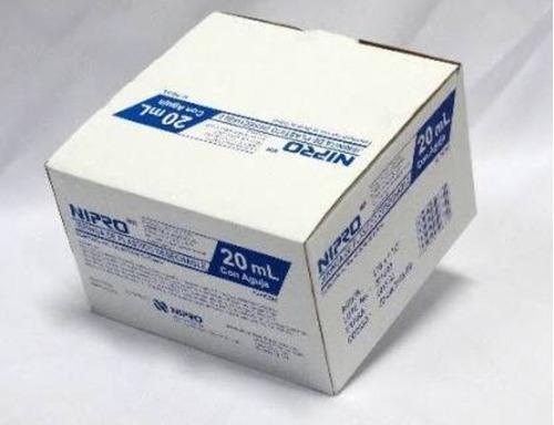 jeringa sin aguja de 20 ml nipro