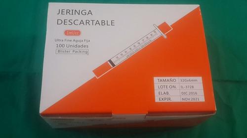 jeringuilla 1ml con aguja 32mm la mas fina caja x 100