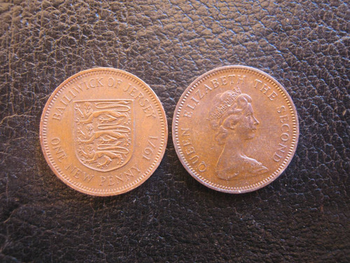 jersey 1 new pence 1971