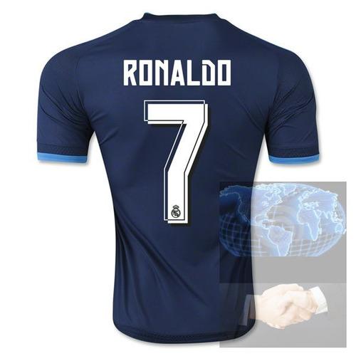 jersey #7 real madrid azul visita 2016 adidas nueva playera