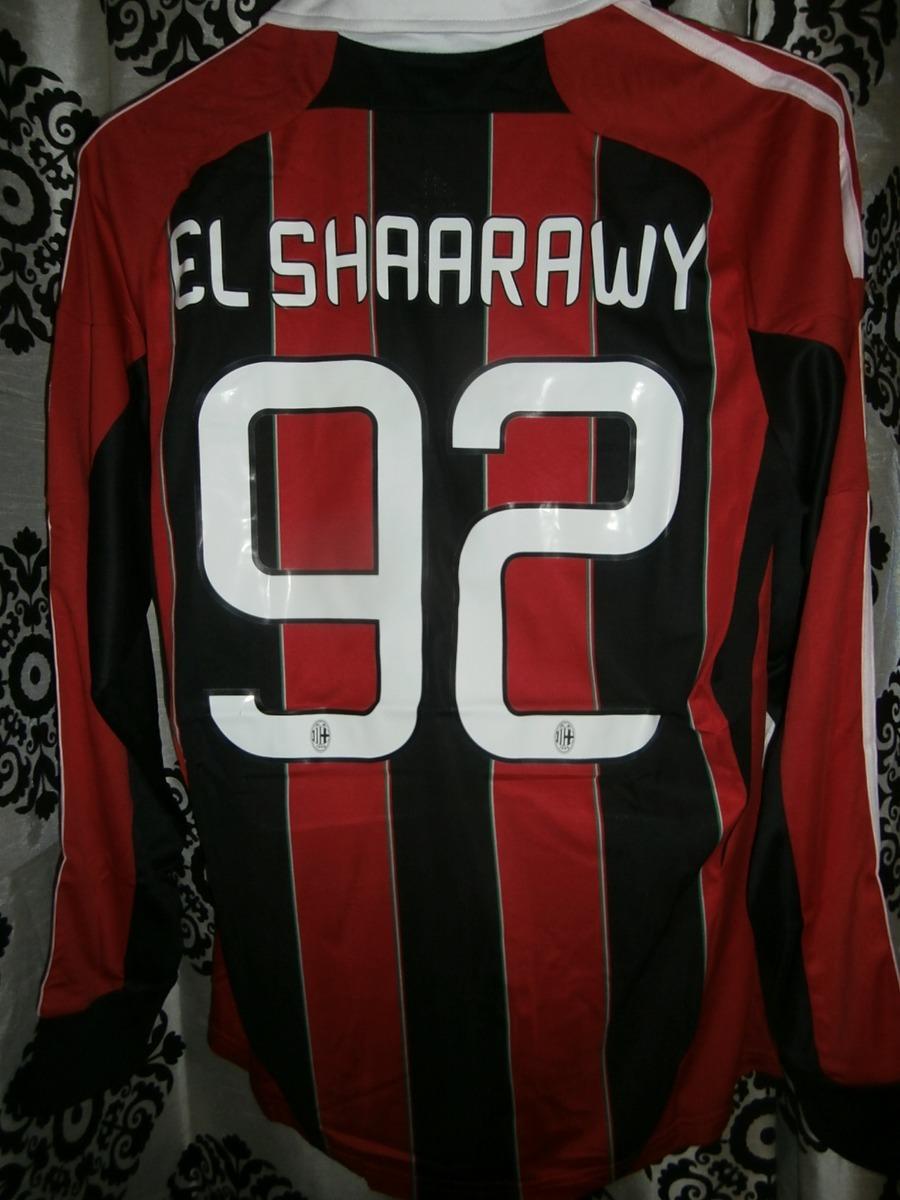 2b4c7f1d2072b Jersey Ac Milan Local 2012 13 El Shaarawy Manga Larga Liga ...