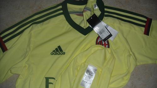jersey adidas 100% original milan italia calcio 14-15 gala