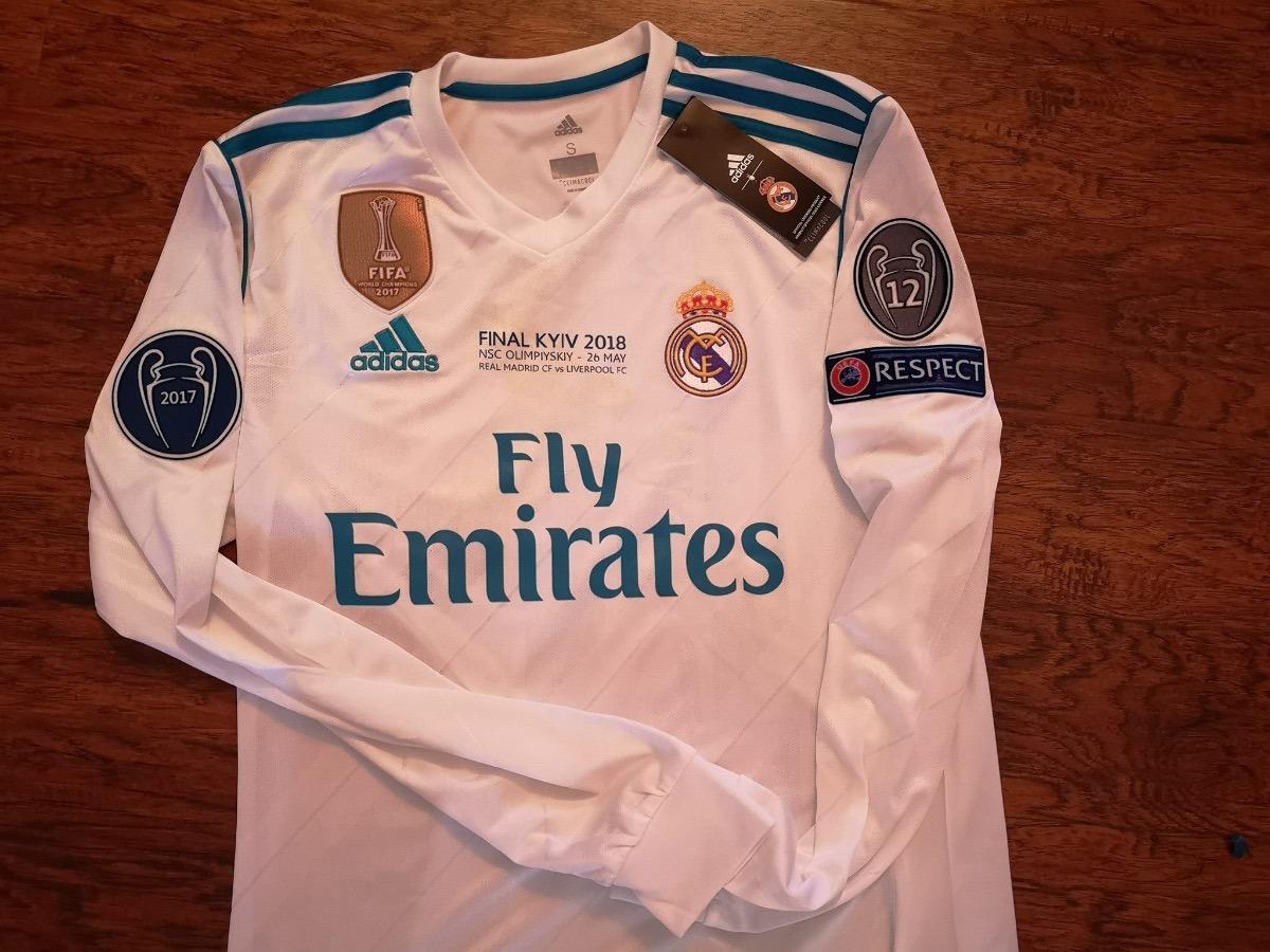 c19173c10 jersey adidas madrid champions final kiev man larga original. Cargando zoom.