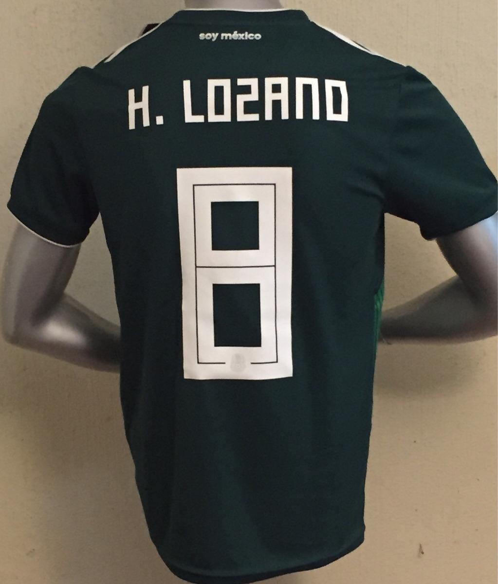 e05a69b80fa19 jersey adidas méxico con número de chuky lozano rusia 2018. Cargando zoom.